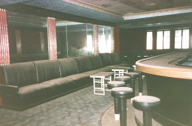 A very dusty Cocktail Bar.