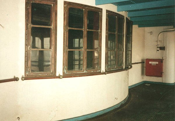 Outside view of the windows on Promenade deck.