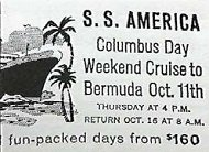 An advert for one of the Bermuda cruises.
