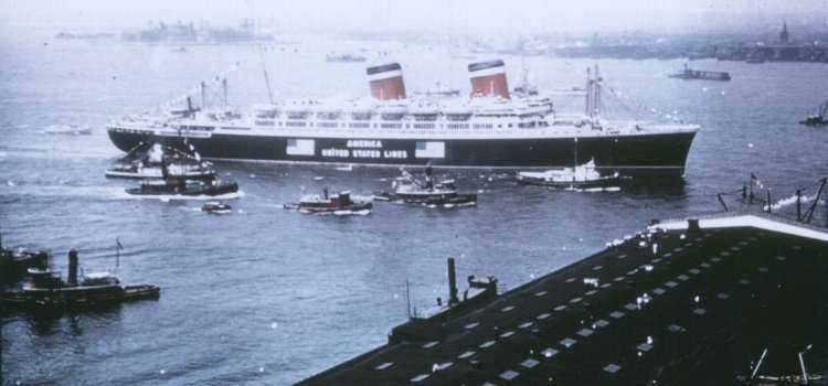 S. S. America in her glory days...