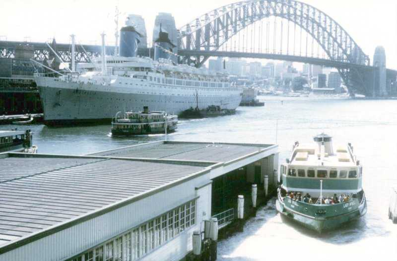A close up view of the Australis at Sydney, Australia.