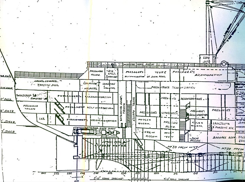 Aft section of the plan of the American Star.