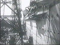 The ship being repaired in Fiji.