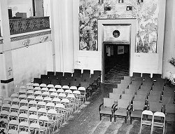 The Main Lounge was turned into a Theater during the war.